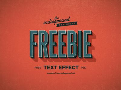Free Retro Text Effect design template logo typography vintage effect text photoshop freebie retro psd free