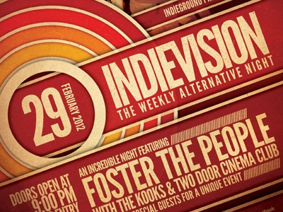 Indie Poster Vol. 7 poster flyer template psd gig party concert print design music indie alternative band retro vintage