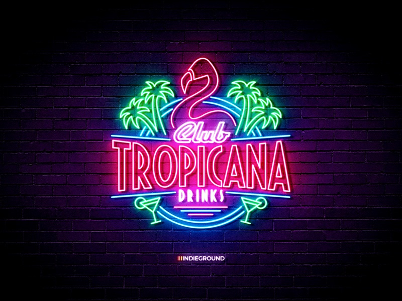 Neon Sign Effects for Photoshop - Club Tropicana by Roberto
