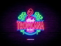 Neon Sign Effects for Photoshop - Club Tropicana