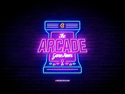 Neon Sign Effects for Photoshop - Arcade Game Room text effect mockup retrogaming videogames arcade vector logo design neon sign vintage sign template neon retro photoshop logo vintage psd