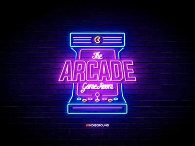 Neon Sign Effects for Photoshop - Arcade Game Room