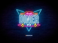 Neon Sign Effects for Photoshop - Arnold's Diner