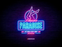 Neon Sign Effects for Photoshop - Pleasure Paradise