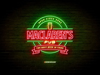 Neon Sign Effects for Photoshop - MacLaren's Pub