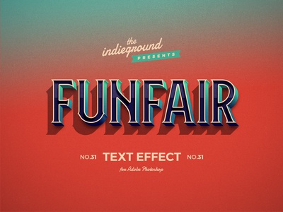 Retro Vintage Photoshop Text Effect No.31