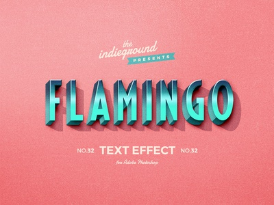 Retro Vintage Photoshop Text Effect No.32