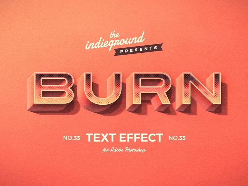 Retro Vintage Photoshop Text Effect No.33 burn 1950s smart objects design effect classic logo style typography photoshop retro template vintage psd