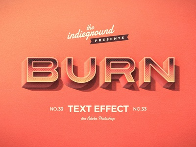 Retro Vintage Photoshop Text Effect No.33 burn 1950s smart objects design effect classic logo style typography photoshop retro template vintage psd