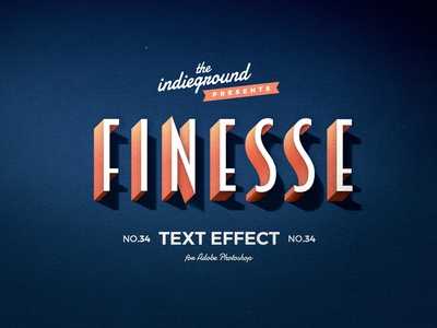 Retro Vintage Photoshop Text Effect No.34 effect text effect classic 3d smart object typography style design logo photoshop retro template vintage psd