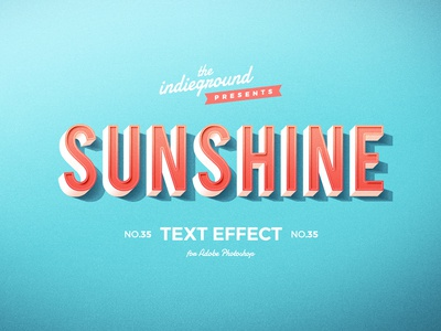 Retro Vintage Photoshop Text Effect No.35
