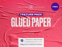 Free Glued Paper Textures
