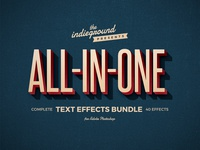 Retro Photoshop Text Effects Complete Bundle