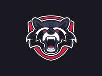 Raccoon Mascot Logo