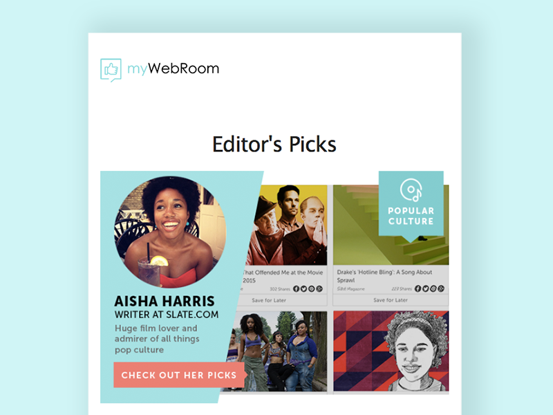 Newsletter Design - Editor's Picks graphic design web editors picks layout design email newsletter