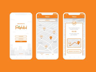 Freshaid Mobile UI Design ux app design illustration vector ui branding extension branding brand identity graphic design
