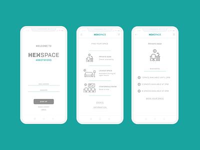 Hexspace Mobile UI design icon icon set illustration vector ui branding extension branding brand identity graphic design