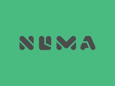 Numa Wordmark vector design logomark logo iconagraphy icon branding extension branding brand identity graphic design