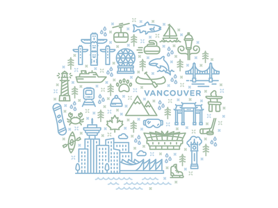 Vancouver Iconography graphic design illustration icon set icons design logomark logo iconagraphy icon vector illustration vector
