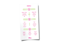 Bliss Menu Design
