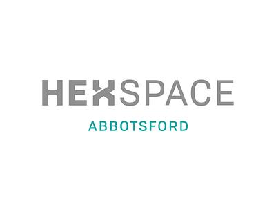 Hexspace Wordmark wordmark logomark logo brand identity graphic design typography branding