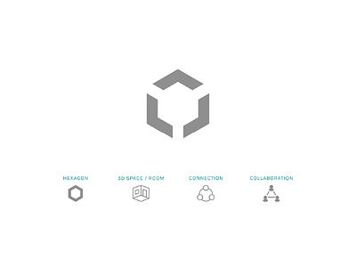 Hexspace Logomark logomark logo iconagraphy icon branding extension brand identity graphic design branding