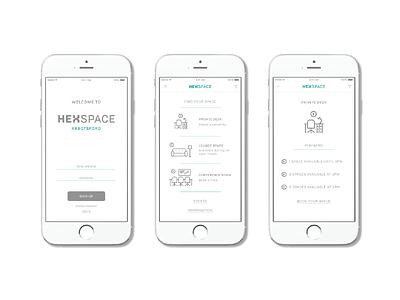 Hexspace Mobile App ux design app design branding extension brand identity graphic design branding