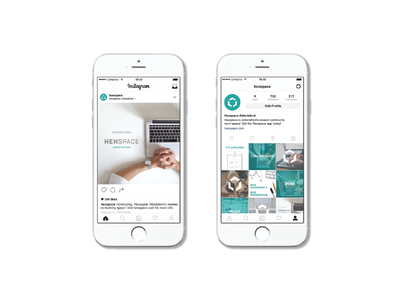 Hexspace Social Media instagram social media branding extension brand identity graphic design branding