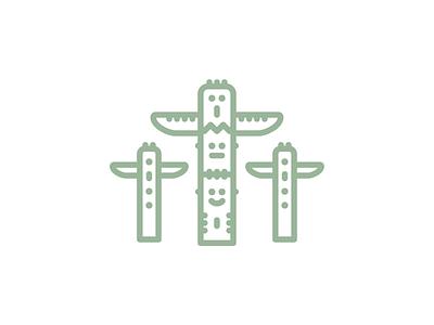 Vancuver Totem Poles design vector illustration icon set icons logomark logo iconagraphy icon graphic design