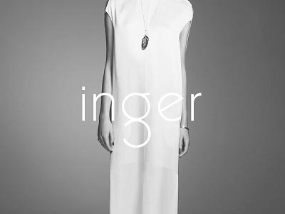 Inger Identity 2014 inger jewellery logo logotype identity brand type black and white fashion style