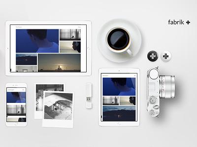 Fabrik & Photographers overhead promotion device mockup design website fabrik 2016