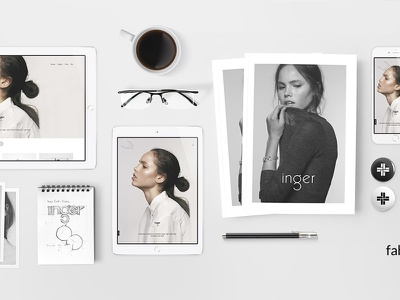 Fabrik & Graphic Designers promotion campaign overhead device fabrik mockup 2016 website