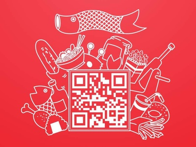 Scan to order drawing qr code graphic graphic design