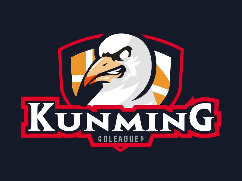 diamond basketball league KUNMING-logo red-headed gull basketball vector logo