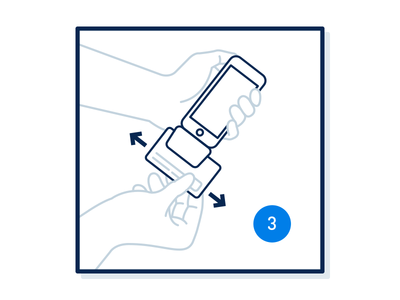 A Little Card Swiping Action illustration instruction information design hands card-reader device ios app