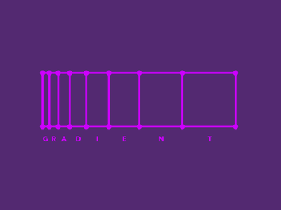 Faux Gradient conference purp spectrum branding logo gradient