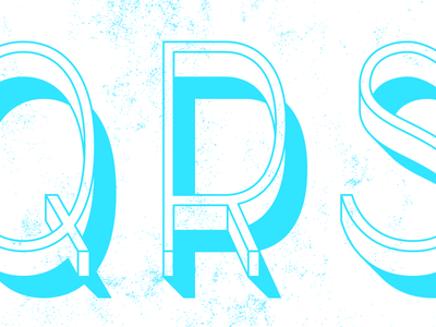 Laid-Back. s r q sans serif condensed shadow deco modern type design design typography