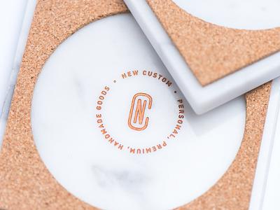 Personal — Premium — Handmade Goods product design design logo drinks handmade custom emblem cork marble coaster