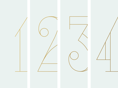 Some Big Gold Numbers. 4 3 2 1 design gold window vinyl lettering numbers signage