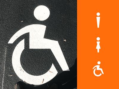 A Tip of the Handicap parking lot design icon isa wheelchair handicapped handicap