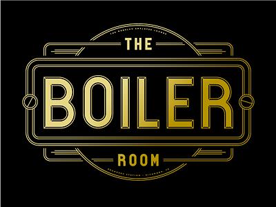 Boiled lounge boiler vinyl deco art deco signage richmond design art logo