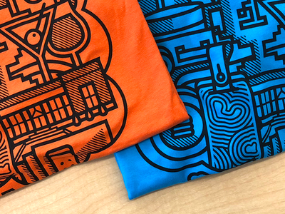 Big Year. Big Color t-shirt ten richmond products orange illustration branding blue anniversary