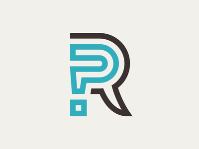 Q's + A's = R's app word bubble richmond recommendation lettermark r mark answer question logo