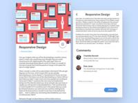 Blog post UI design
