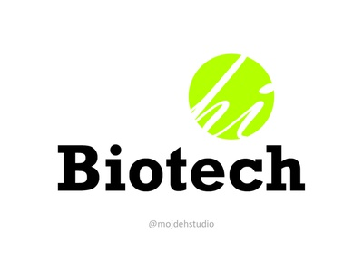 Hi Biotech logodesign vector illustration logo