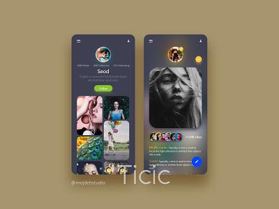 Ticic Application uiux application uiuxdesign design app ux ui