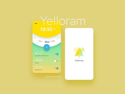 Yelloram Application uiux design uiuxdesign application app ui ux
