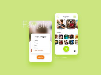 Favpic Application uiux application uiuxdesign ui ux design