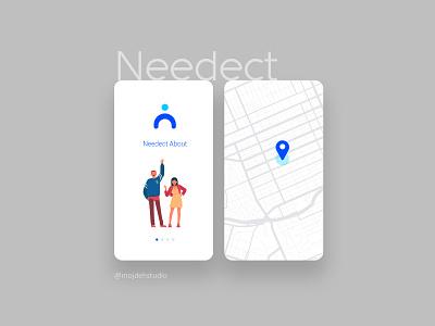 Needect Application uiux design application app ui ux
