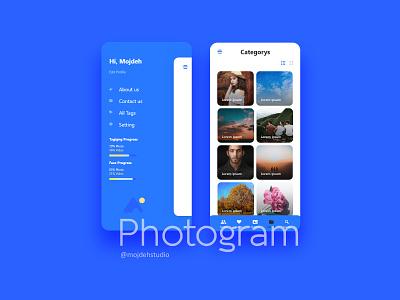 Photogram Application uiux uiuxdesign vector application app ux ui